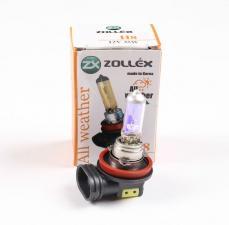 Лампа H8 12V 35W Всепогодная желтая, Zollex